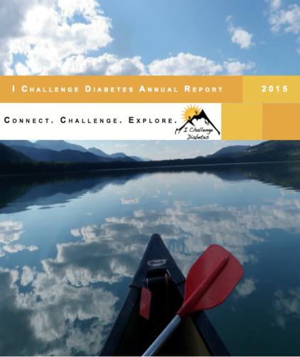 I Challenge Diabetes - 2015 Annual Report