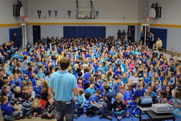 blue crowd compressed