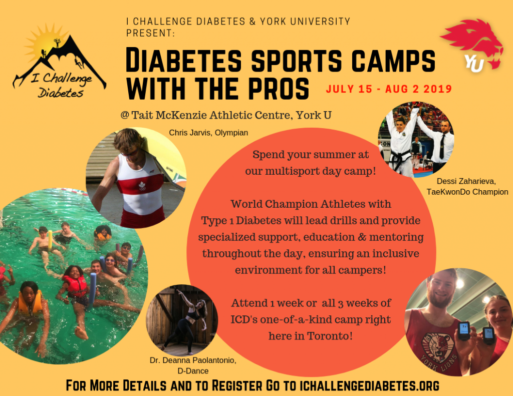 Summer Sports Camp with the Pros - I Challenge Diabetes