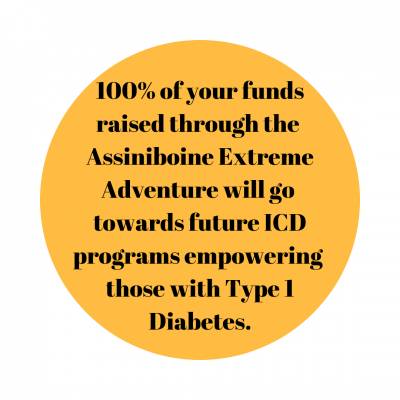 100% of your funds raised through the Assiniboine Extreme Adventure will go towards future ICD programs empowering those with Type 1 Diabetes.