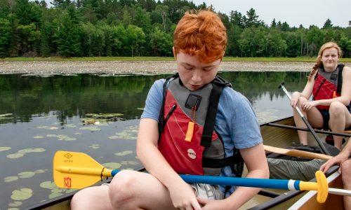 Chris B injecting canoe